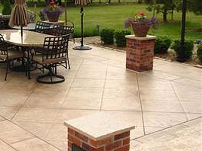 stamped colored concrete Denver